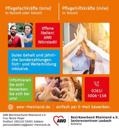 Pflege offene Stellen Koblenz