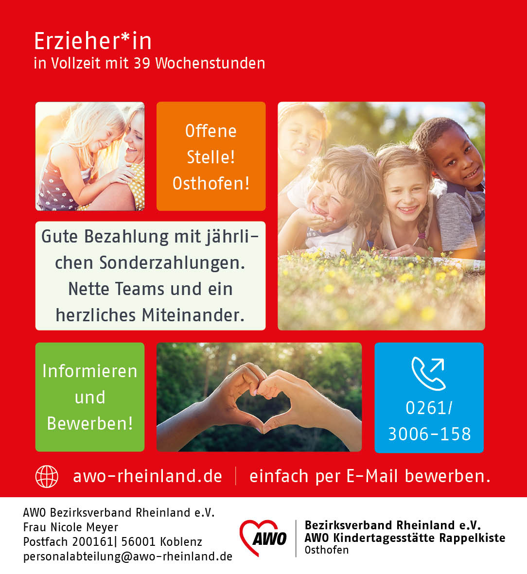 Erzieherin gesucht in Osthofen