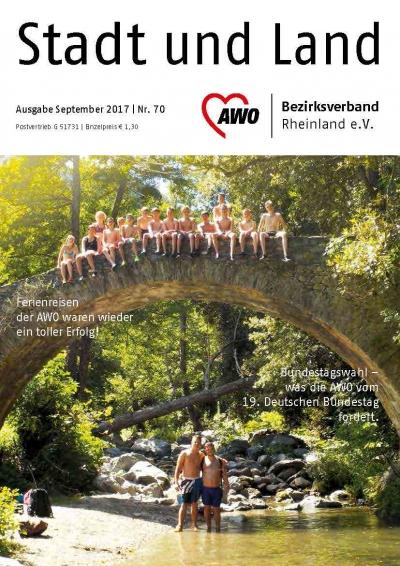 Titel der Mitgliederzeitung AWO Bezirk Rheinland