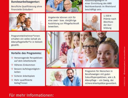 Ausbildung zum*r Altenpfleger*in wird gefördert – Altenpflegeausbildung für Quer- und Wiedereinsteiger