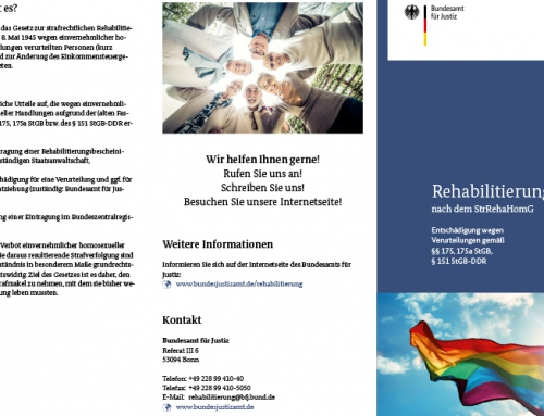 Rehabilitierung nach dem StrRehaHomG – §§ 175