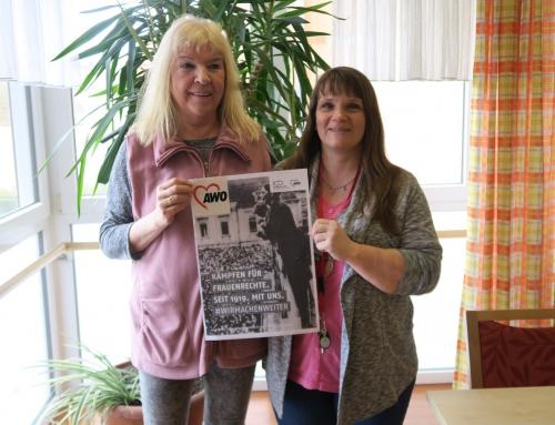 100 Jahre AWO- 100 Jahre Frauenwahlrecht- Interessante Diskussionen im Seniorenheim