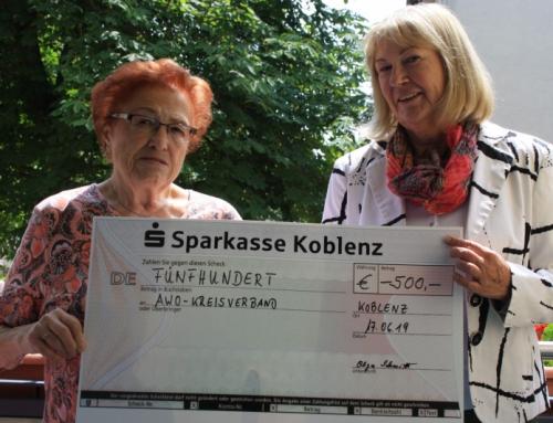 Spenden statt Geschenke – 500 Euro für den guten Zweck
