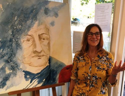 Vernissage der Künstlerin Kirstin Toennes-Still, die mit den AWO Seniorenhäusern Diez sehr verbunden ist, in der kirchlichen Sozialstation Diez