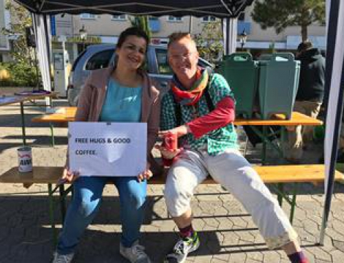 Free hugs & good coffee beim Parking Day Bad Kreuznach 2019: AWO Bad Kreuznach mit am Start!