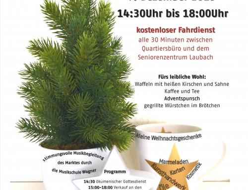 Zweiter Vorstädter Adventsmarkt im AWO Seniorenzentrum Laubach mit Nikolaus-Schuh-Aktion