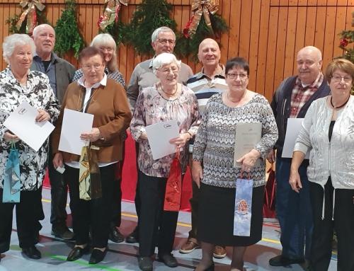 AWO Ober-Olm ehrt Jubilare im Rahmen der Weihnachtsfeier