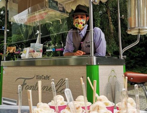 Eis Café Fontanella bei Giovanni spendete über 300 Kugeln Eis für die Senioren der AWO Seniorenhäuser Diez