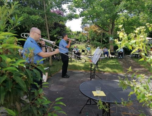AWO Seniorenzentrum Mainz Oberstadt: Die musikalische Visitenkarte der rheinland-pfälzischen Polizei zu Gast in unserem Seniorenzentrum