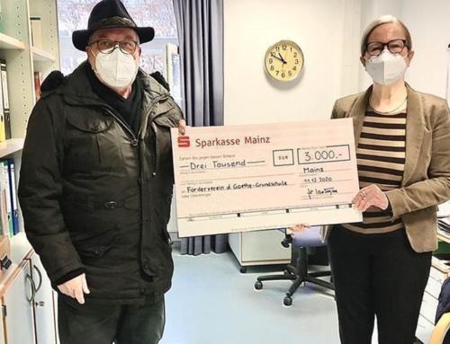Förderverein Goethe-Grund-Schule in der Mainzer Neustadt erhält Spende