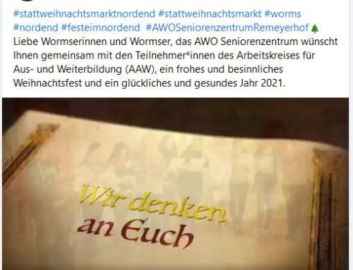 AWO Seniorenzentrum Worms: Teilnahme an der Aktion #stattweihnachtsmarktnordend
