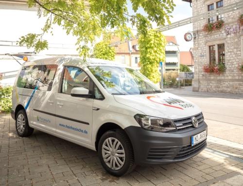 Mit dem AWO-Busje der AWO Heidesheim zum Impfzentrum nach Ingelheim