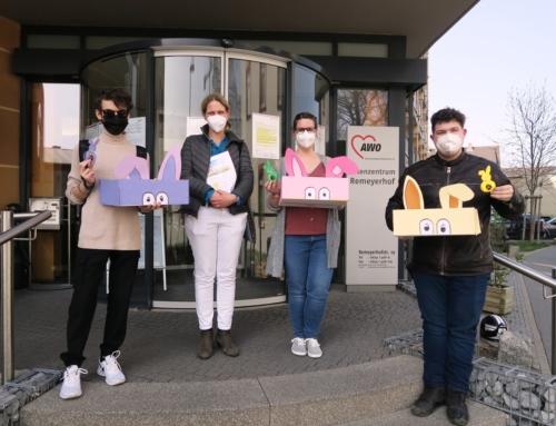 AWO Seniorenzentrum Worms: Selbstgebastelte Osterhasen von AAW-Schülern für  Bewohner*innen