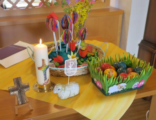 AWO SZ Vierwindenhöhe: Ostergottesdienst auf den Wohnbereichen